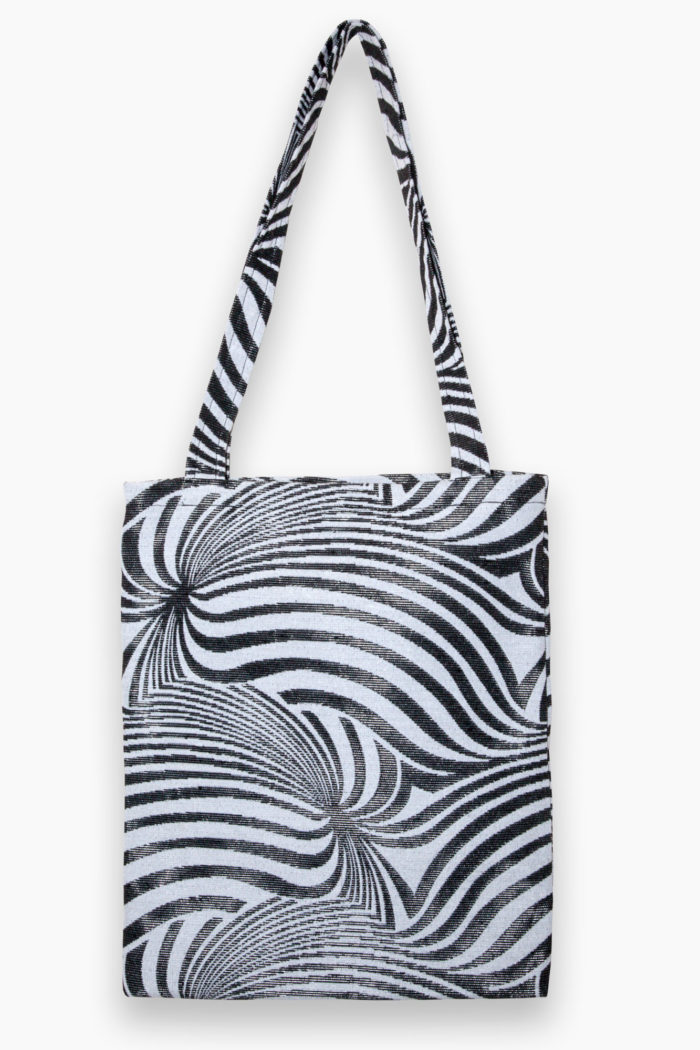 Abstract Swirl Tote – Black
