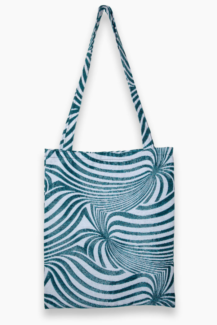 Abstract Swirl Tote – Peppermint