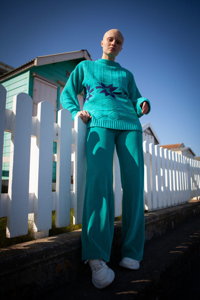 Organic Velour Trousers – Peppermint